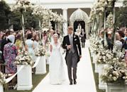 """<p>Eighteen weddings have taken place on the White House grounds, the first of which occurred in 1812, when Dolley Madison's sister, Lucy Payne Washington, married Thomas Todd on the State Floor. Most of the other weddings that took place were for people in the president's family — most often their children. </p> <p>For example, Tricia Nixon, President Richard Nixon's daughter, is seen here marrying Edward Finch Cox in the Rose Garden. </p> <p>The White House Historical Association has <a href=""""https://www.whitehousehistory.org/questions/how-many-weddings-have-been-held-at-the-white-house"""" rel=""""nofollow noopener"""" target=""""_blank"""" data-ylk=""""slk:a full list"""" class=""""link rapid-noclick-resp"""">a full list</a> of all the weddings that have taken place.</p>"""