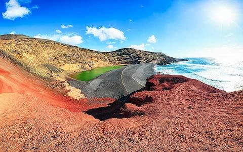 Timanfaya National Park lake - Credit: istock