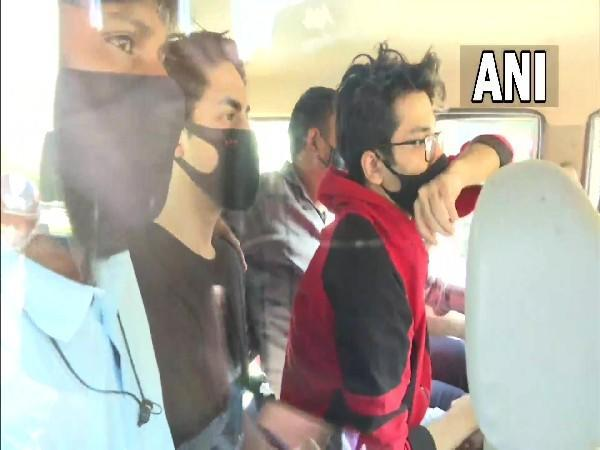 Visual of three persons being taken for medical tests in Mumbai (Photo/ANI)