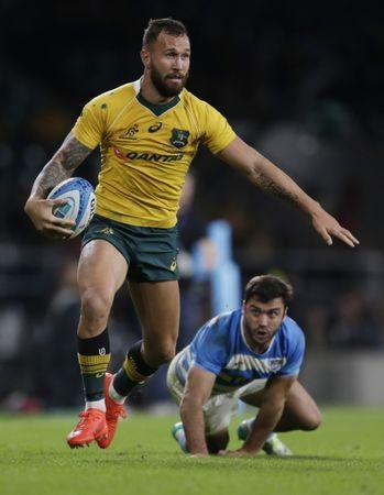 Rugby Union Britain - Argentina v Australia - Rugby Championship - Twickenham Stadium, London, England - 8/10/16 Australia's Quade Cooper in action Action Images via Reuters / Henry Browne Livepic