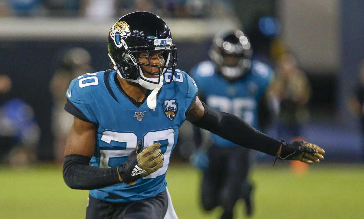 Jalen Ramsey found his way out of Jacksonville, and the Rams found their replacement for Marcus Peters in a blockbuster deal. (Reuters)