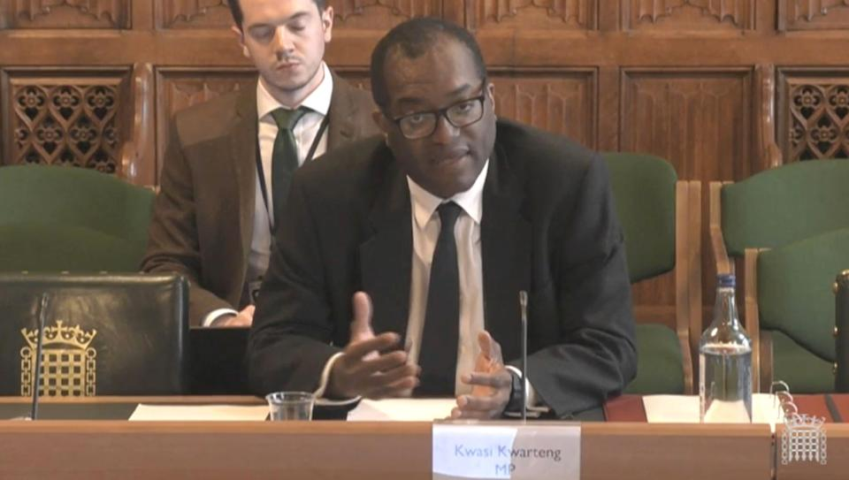 Business Secretary Kwasi Kwarteng giving evidence to the Business, Energy and Industrial Strategy Committee in the House of Commons, London, on the subject of the UK Gas Market. Picture date: Wednesday September 22, 2021. (Photo by House of Commons/PA Images via Getty Images)