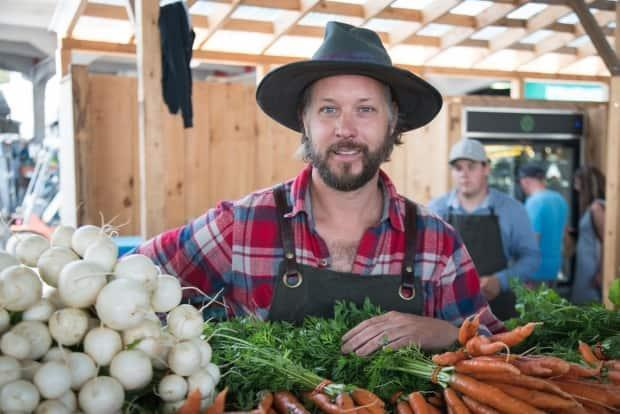 Jean-Martin Fortier is a regular vendor at the Jean-Talon Market. But he's also doing much more to grow the small-scale organic farming movement. (Submitted by Jean-Martin Fortier - image credit)