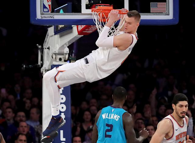 "Yes, the Knicks have a franchise player in <a class=""link rapid-noclick-resp"" href=""/nba/players/5464/"" data-ylk=""slk:Kristaps Porzingis"">Kristaps Porzingis</a>. (Getty Images)"