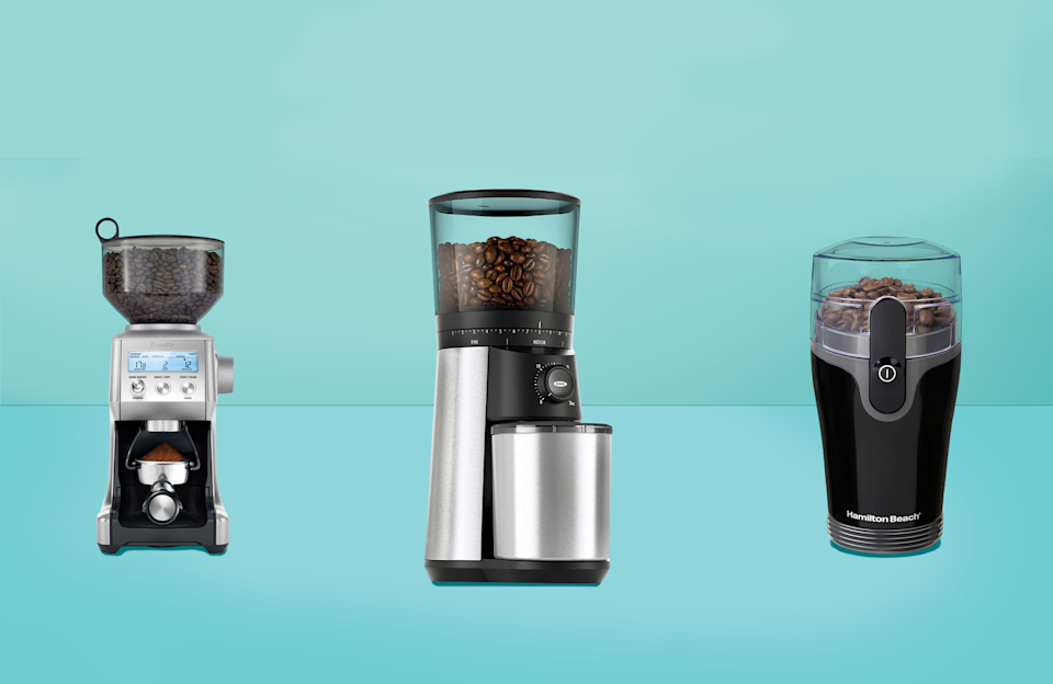 "<p>Once you've had <a href=""https://www.goodhousekeeping.com/appliances/coffee-maker-reviews/a28552704/bialetti-moka-stove-top-coffee-maker-review/"" rel=""nofollow noopener"" target=""_blank"" data-ylk=""slk:a great cup of coffee"" class=""link rapid-noclick-resp"">a great cup of coffee</a>, it's hard to go back. Many factors contribute to taste, including <a href=""https://www.goodhousekeeping.com/appliances/coffee-maker-reviews/g2083/top-rated-coffeemakers/"" rel=""nofollow noopener"" target=""_blank"" data-ylk=""slk:how it's made"" class=""link rapid-noclick-resp"">how it's made</a> and the temperature it's served at, but the freshness of the beans is among the most important. Most coffee is sold in a UV-blocking, vacuum-sealed container, but once you open it, the flavor starts to fade, especially if it's already ground. </p><p>Whole coffee beans retain their flavor much longer than ground. For comparison, think of how freshly minced garlic smells versus the unnoticeable scent of a whole clove. The longer you let it sit once it's cut up, the more its scent will dissipate. The same thing happens with coffee beans — once they're ground and exposed to more air, they start to lose flavor. Grinding your own beans before each batch ensures the freshest flavor. It also allows you to control the grind size, a key selling-point for those who prefer using a French press or making cold brew.<br><br>To determine which coffee grinders to recommend, we, <a href=""https://www.goodhousekeeping.com/institute/about-the-institute/a19748212/good-housekeeping-institute-product-reviews/"" rel=""nofollow noopener"" target=""_blank"" data-ylk=""slk:in the Good Housekeeping Kitchen Appliance Lab"" class=""link rapid-noclick-resp"">in the Good Housekeeping Kitchen Appliance Lab</a>, tested 20 different grinders from trusted brands and best-sellers on Amazon. They included a variety of blade and burr grinders, three of which were manual. We evaluated the grinders on how easy they were to set up and use, and more importantly, how well they performed. The highest scoring grinders were able to produce even grounds for all types of coffee, including fine for espresso, medium for drip, and coarse for cold brew and French press. They grounds were also easy to pour into a coffee filter from the container, while making a minimal mess. Our favorites were also relatively quiet. Here are <strong>the top rated coffee grinders from our test: </strong></p><ul><li><strong>Best Overall Coffee Grinder: </strong><a href=""https://www.amazon.com/dp/B07CSKGLMM?tag=syn-yahoo-20&ascsubtag=%5Bartid%7C10055.g.30986295%5Bsrc%7Cyahoo-us"" rel=""nofollow noopener"" target=""_blank"" data-ylk=""slk:OXO BREW Conical Burr Grinder"" class=""link rapid-noclick-resp"">OXO BREW Conical Burr Grinder </a><strong><br></strong></li><li><strong>Best Value Coffee Grinder: </strong><a href=""https://www.amazon.com/dp/B005EPRFKO?tag=syn-yahoo-20&ascsubtag=%5Bartid%7C10055.g.30986295%5Bsrc%7Cyahoo-us"" rel=""nofollow noopener"" target=""_blank"" data-ylk=""slk:Hamilton Beach Fresh Grind Electric Coffee Grinder"" class=""link rapid-noclick-resp"">Hamilton Beach Fresh Grind Electric Coffee Grinder</a><strong><br></strong></li><li><strong>Best Coffee Grinder for Espresso and Pour Over: </strong><a href=""https://www.amazon.com/dp/B00OXGXW8O?tag=syn-yahoo-20&ascsubtag=%5Bartid%7C10055.g.30986295%5Bsrc%7Cyahoo-us"" rel=""nofollow noopener"" target=""_blank"" data-ylk=""slk:Breville The Smart Grinder Pro"" class=""link rapid-noclick-resp"">Breville The Smart Grinder Pro</a><strong><br></strong></li><li><strong>Best Coffee Grinder for Cold Brew and French Press: </strong><a href=""https://www.amazon.com/dp/B00018RRRK?tag=syn-yahoo-20&ascsubtag=%5Bartid%7C10055.g.30986295%5Bsrc%7Cyahoo-us"" rel=""nofollow noopener"" target=""_blank"" data-ylk=""slk:Cuisinart DBM-8 Supreme Grind Automatic Burr Mill"" class=""link rapid-noclick-resp"">Cuisinart DBM-8 Supreme Grind Automatic Burr Mill</a><strong><br></strong></li><li><strong>Quietest <strong>Blade Grinder:</strong> </strong><a href=""https://www.amazon.com/dp/B07WYHQBF2?tag=syn-yahoo-20&ascsubtag=%5Bartid%7C10055.g.30986295%5Bsrc%7Cyahoo-us"" rel=""nofollow noopener"" target=""_blank"" data-ylk=""slk:KRUPS Silent Vortex Electric Grinder"" class=""link rapid-noclick-resp"">KRUPS Silent Vortex Electric Grinder</a><strong><br></strong></li><li><strong>Quietest <strong>Burr Grinder:</strong> </strong><a href=""https://www.amazon.com/dp/B07N4KTW38?tag=syn-yahoo-20&ascsubtag=%5Bartid%7C10055.g.30986295%5Bsrc%7Cyahoo-us"" rel=""nofollow noopener"" target=""_blank"" data-ylk=""slk:Capresso Infinity Plus Conical Burr Grinder"" class=""link rapid-noclick-resp"">Capresso Infinity Plus Conical Burr Grinder</a><strong><br></strong></li><li><strong>Best Manual Coffee Grinder: </strong><a href=""https://www.amazon.com/dp/B013R3Q7B2?tag=syn-yahoo-20&ascsubtag=%5Bartid%7C10055.g.30986295%5Bsrc%7Cyahoo-us"" rel=""nofollow noopener"" target=""_blank"" data-ylk=""slk:JavaPresse Manual Coffee Grinder"" class=""link rapid-noclick-resp"">JavaPresse Manual Coffee Grinder</a><br></li></ul><h2>First, do you even need a coffee grinder?</h2><p>If you'd like to grind your own coffee at home, a coffee grinder is a must. Food processors, mini choppers, and blenders are not reliable. While blade grinders resemble food processors and mini choppers, they actually have blunted edges that don't beat up the beans more than they have to. Their container is also smaller, which allows for a smaller amount to be processed better and more evenly. Most importantly, when coffee beans are ground, they release oils that often stain and linger in the container. No matter how many times you clean your food processor, mini chopper, or blender, chances are it will still smell like coffee. </p><h2>What type of coffee grinder is best?</h2><p>There are two main ways to grind coffee; you can use a blade grinder or a burr grinder. </p><ul><li><strong>A blade grinder</strong> works like a food processor with blunted edges. The blade spins to chop the coffee beans. The ones we tested were loud when the beans were still whole, but operated more quietly when the beans broke down. Overall, blade grinders are smaller and more compact than burr grinders, but require a learning curve to produce evenly-ground coffee of the right size. </li><li><strong>A burr grinder</strong> works like a pepper mill in that coffee beans pass through two metal or plastic objects to be ground into pieces. The grind size can be precisely controlled, depending on how many settings the grinder has, and the results are very even, which contribute to a fuller, more balanced taste. They're larger, louder, and often more expensive than blade grinders.</li><li><strong>Manual grinders. </strong>Manual grinders are smaller and inexpensive option, but selecting the perfect setting is not always easy and grinding takes way more time than we'd like. They, too, work like a pepper mill by grinding beans between two burrs. Manual grinders store a small amount of beans, and require turning the handle many times to ground. On the plus side, manual grinders are virtually silent compared to blade and burr grinders. </li></ul><p>When grinding coffee, it's important to achieve the most evenly ground coffee to extract the most flavor during brewing. As with cooking, different sized pieces require different brewing times; coarser ground coffee requires a longer steeping time than finer and vice versa. Unevenly ground coffee can result in a weaker cup than you'd expect. </p><p>Here are the ideal grind sizes for different types of coffee. <strong>Remember: </strong><strong>The finer the coffee, the stronger the taste,</strong> and <strong>the longer (and more gentle) the brew time, the coarser the grind. </strong></p><ul><li><strong>Very fine: </strong>Turkish coffee and strong espresso</li><li><strong>Fine:</strong> Espresso</li><li><strong>Medium fine:</strong> Light espresso and strong pour over</li><li><strong>Medium: </strong>Light pour over and drip coffee</li><li><strong>Coarse: </strong>French press</li><li><strong>Very coarse:</strong> Cold brew </li></ul>"