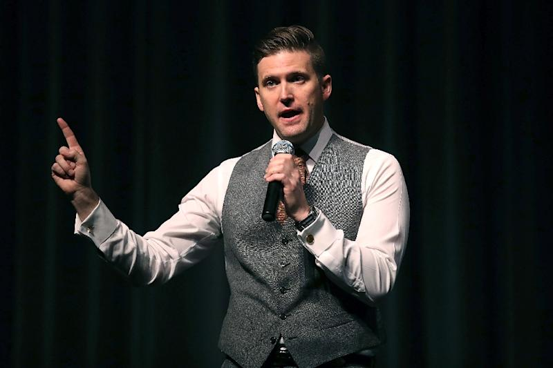 "Richard Spencer, pictured on October 19, 2017, is scheduled to be a panelist at its ""Europe of future"" debate in Warsaw"