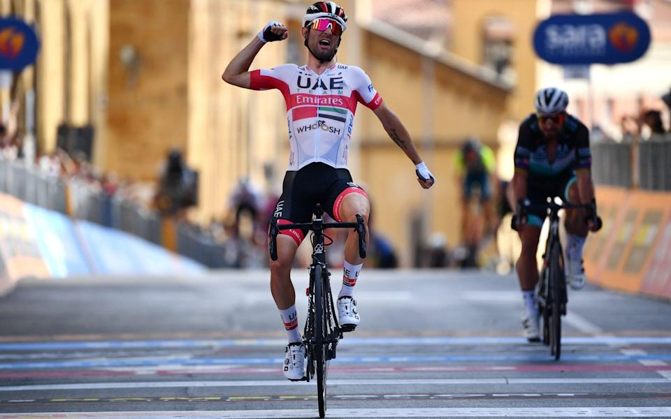 Diego Ulissi — The Cycling Podcast — Giro d'Italia 2020: Stage two, Alcamo - Agrigento (via Liege-Bastogne-Liege) - GETTY IMAGES