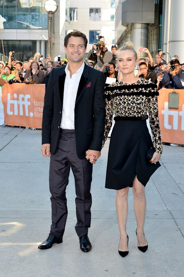"TORONTO, ON - SEPTEMBER 11:  Actors Joshua Jackson (L) and Diane Kruger arrive at the ""Inescapable"" Premiere during the 2012 Toronto International Film Festival at Roy Thomson Hall on September 11, 2012 in Toronto, Canada.  (Photo by Alberto E. Rodriguez/Getty Images)"