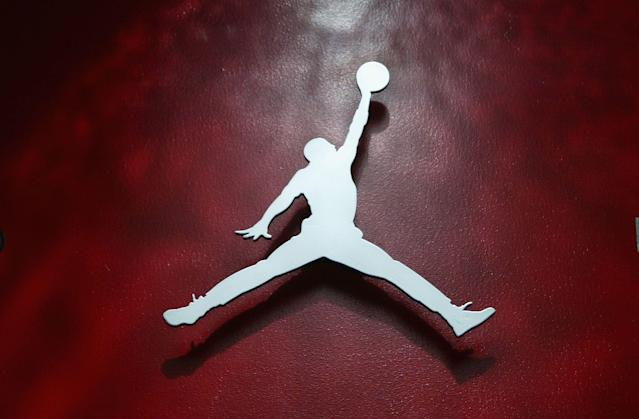 Nike's Air Jordan logo has an interesting past. (Photo by Christian Petersen/Getty Images)