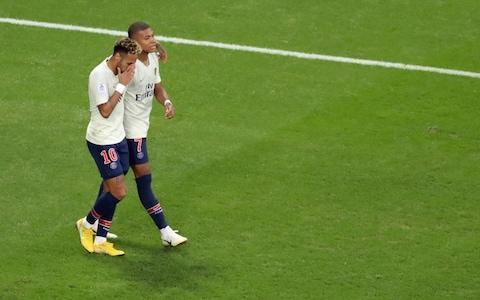 <span>Neymar and Kylian Mbappe might not relish their defensive duties under a Jose Mourinho regime</span> <span>Credit: AFP </span>