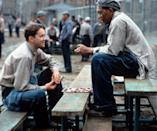 """<p><a class=""""link rapid-noclick-resp"""" href=""""http://www.amazon.com/Shawshank-Redemption-Tim-Robbins/dp/B001XUJNJ0/?tag=syn-yahoo-20&ascsubtag=%5Bartid%7C10058.g.2509%5Bsrc%7Cyahoo-us"""" rel=""""nofollow noopener"""" target=""""_blank"""" data-ylk=""""slk:watch"""">watch</a><br></p><p>When people discuss prison movies, probably the first one that comes to mind is <em>The Shawshank Redemption</em>. Expect excellent acting plus a suspenseful ending (that inspired Mexican drug lord El Chapo's <a href=""""http://www.theatlantic.com/entertainment/archive/2015/07/prison-break-escape-el-chapo-clinton-correctional/398546/"""" rel=""""nofollow noopener"""" target=""""_blank"""" data-ylk=""""slk:rendezvous with the police"""" class=""""link rapid-noclick-resp"""">rendezvous with the police</a> last year) that you'll be talking about for years to come.</p>"""