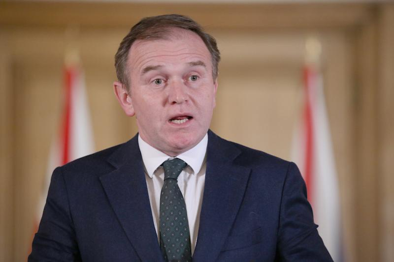 Environment Secretary George Eustice during the press conference at Downing Street, London giving the latest updated on the Coronavirus pandemic.
