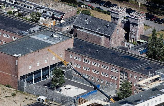 The Scheveningen detention centre in the Netherlands is a stone's throw from the North Sea (AFP Photo/ROBIN UTRECHT)