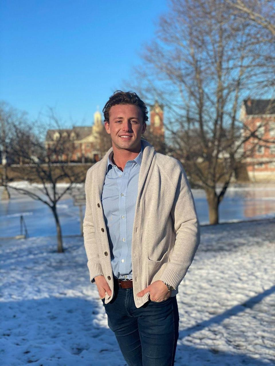 """<p>Does he look a tad like Patrick Dempsey and Tyler Cameron? Just me? Only time will tell if Katie has eyes for McDreamy. He's not in healthcare, though. Christian works as a life coach and real estate agent.</p><p><strong>Age: 26</strong></p><p><strong>Hometown: Newburyport, MA</strong></p><p><strong>Instagram: <a href=""""https://www.instagram.com/christian.smith17/"""" rel=""""nofollow noopener"""" target=""""_blank"""" data-ylk=""""slk:@christian.smith17"""" class=""""link rapid-noclick-resp"""">@christian.smith17</a></strong></p>"""