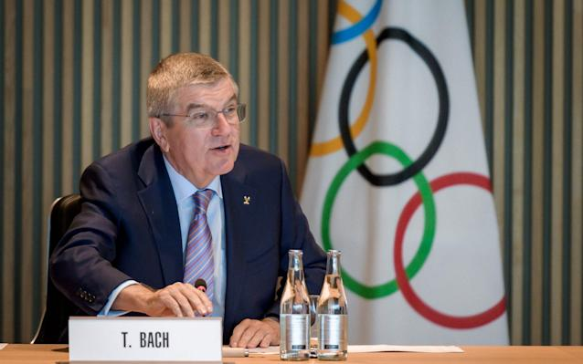 International Olympic Committee (IOC) president Thomas Bach points to the principle of 'innocent until proven guilty' - AFP