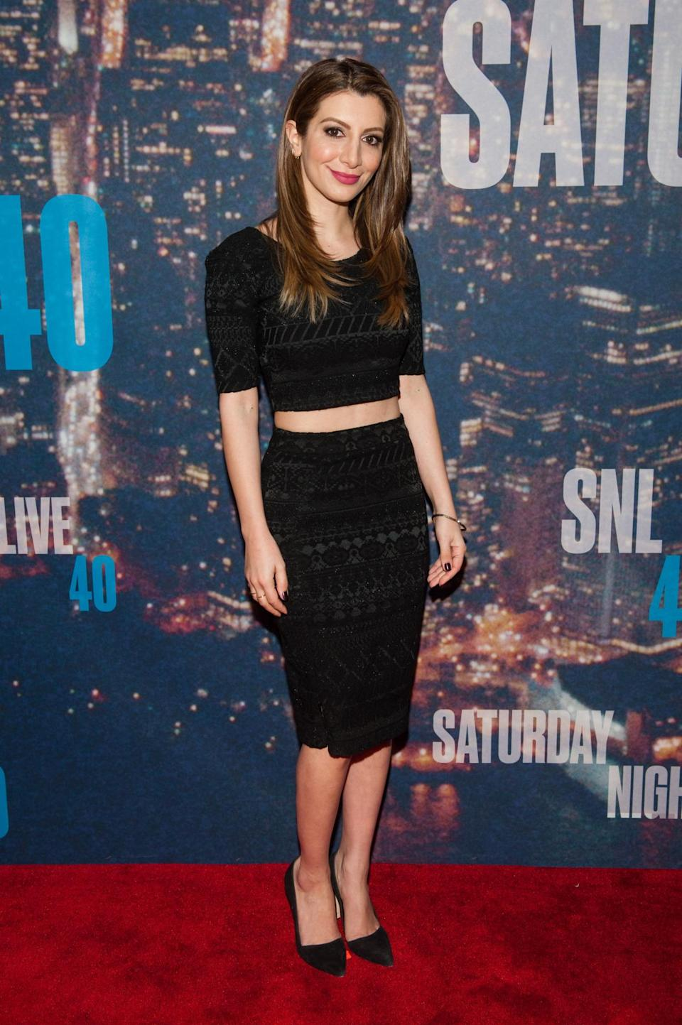 The former cast member, who exited the show last year, attended the event in a black pencil skirt and crop top, showing off just a little bit of midriff.
