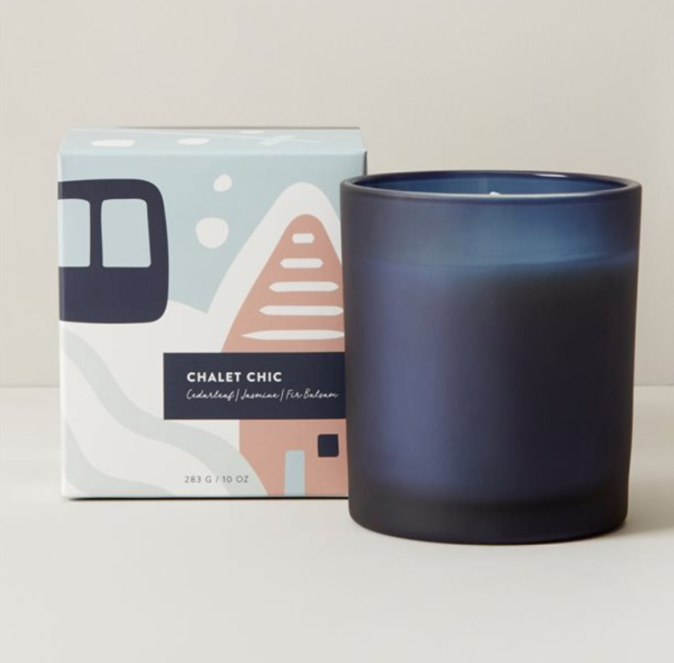 Indigo Scents - Chalet Chic Poured Glass Candle is perfect for the holidays.