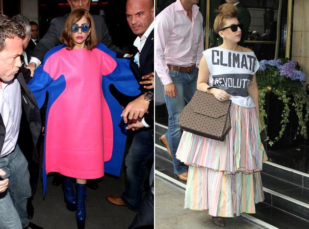 Worst dressed celebrities 2012: This worst dressed list wouldn't be complete without a nod to Lady Gaga. Props to her though for managing to maintain her whacky sense of style – her outfits are never anything other than jaw-droppingly crazy.