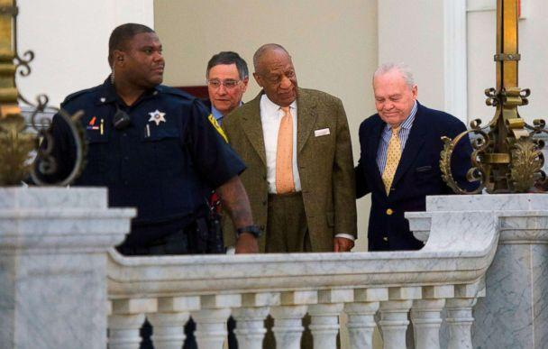 PHOTO: Bill Cosby walks towards the courtroom after a break in the Montgomery County Courthouse on the fourth day of his sexual assault retrial on April 12, 2018 in Norristown, Pa. (Mark Makela/Pool via AFP/Getty Images)