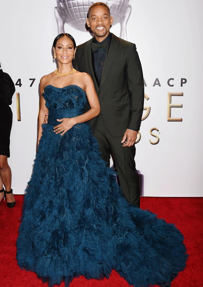 <p>For him, the red carpet is all about her.</p>