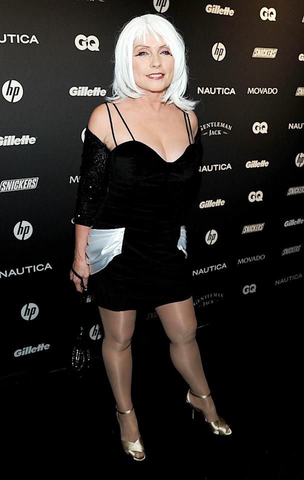 "Speaking of songstresses, former Blondie frontwoman Debbie Harry flaunted her figure in a LBD, metallic heels, and a white 'do. Do you think she looks younger than her 65 years? Larry Busacca/<a href=""http://www.gettyimages.com/"" target=""new"">GettyImages.com</a> - October 27, 2010"