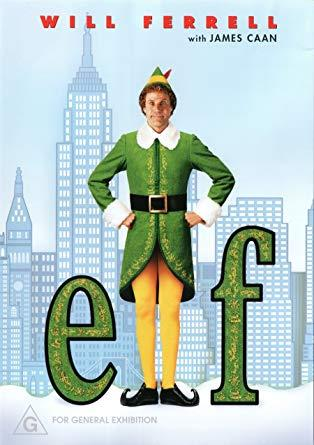 Will Farrell on the movie poster of Elf