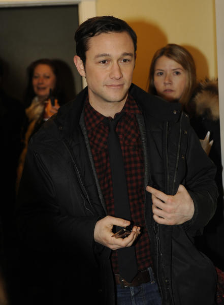 IMAGE DISTRIBUTED FOR FENDER - Actor Joseph Gordon-Levitt is seen at the Fender Music lodge during the Sundance Film Festival on Saturday, Jan. 19, 2013, in Park City, Utah. (Photo by Jack Dempsey/Invision for Fender/AP Images)