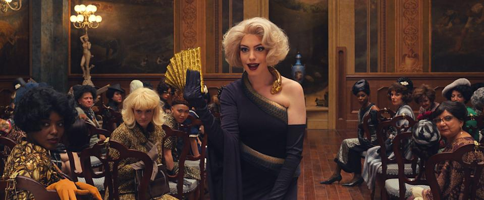 Hathaway had wig input for her Grand High Witch.
