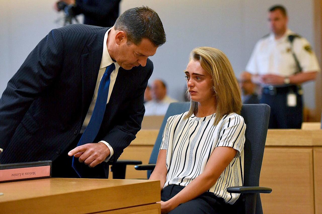 """In her opening statement during Carter's 2017 trial, <a href=""""http://people.com/crime/michelle-carter-opening-statements-crime/"""">Assistant District Attorney Maryclare Flynn</a> said Carter, who was 20 at the time of her trial, wanted sympathy and attention from other girls at school, yearning to be the """"grieving girlfriend"""" who couldn't stop her boyfriend from committing suicide, <a href=""""http://wpri.com/2017/06/06/prosecutor-michelle-carter-craved-sympathy-attention/"""">WPRIreported</a>.  """"The defendant needed something to get their attention,"""" Flynn said. """"She used Conrad as a pawn in her sick game of life and death.""""  Flynn also alleged that Carter tried to pretend to the Roy family that she didn't know the manner and location of Roy's death – despite texts from her that allegedly indicated otherwise.  """"She never admitted to anyone in the Roy family that she had helped Conrad for weeks to devise a suicide plan, or that she was on the phone with Conrad and knew he committed suicide in the Kmart parking lot,"""" Flynn said."""