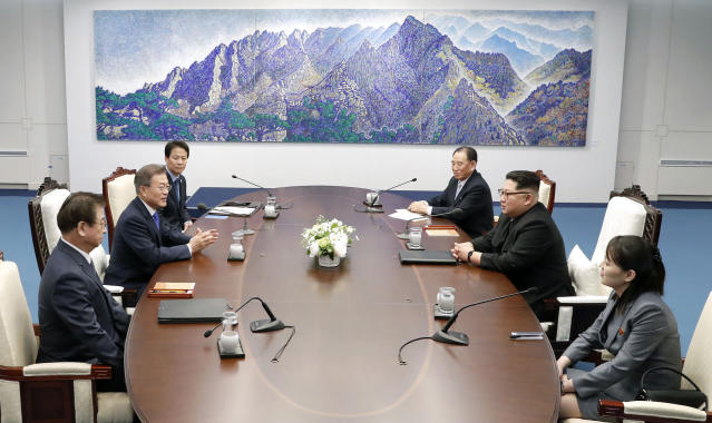 <em>Talks – discussions are thought to have focused on whether the North can be persuaded to give up its nuclear missiles (Picture: AP)</em>