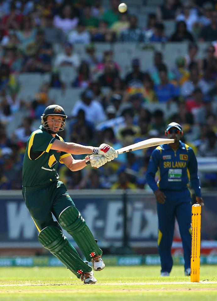 MELBOURNE, AUSTRALIA - JANUARY 11:  George Bailey of Australia bats during game one of the Commonwealth Bank One Day International series between Australia and Sri Lanka at the Melbourne Cricket Ground on January 11, 2013 in Melbourne, Australia.  (Photo by Quinn Rooney/Getty Images)