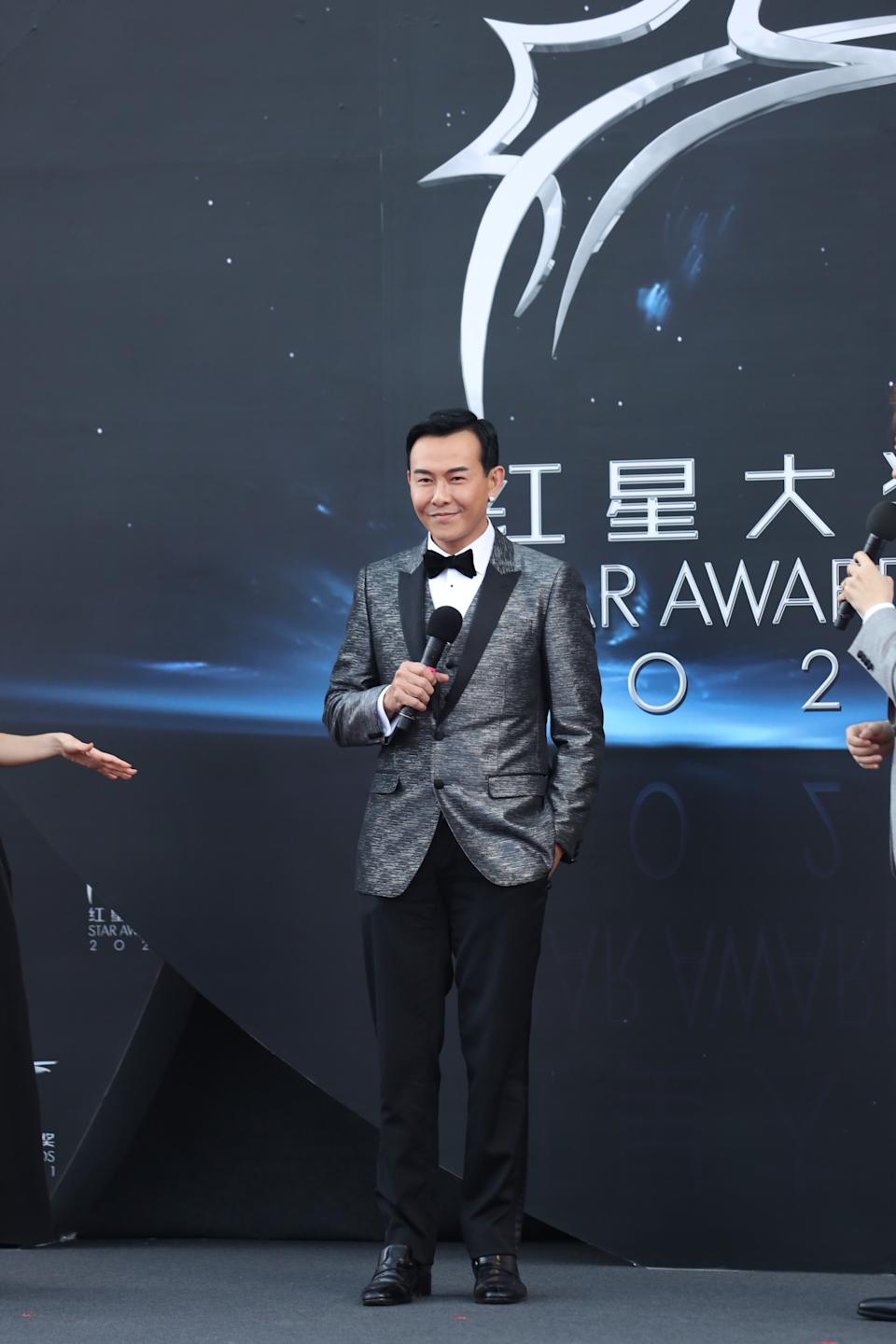 Bryan Wong at Star Awards held at Changi Airport on 18 April 2021. (Photo: Mediacorp)