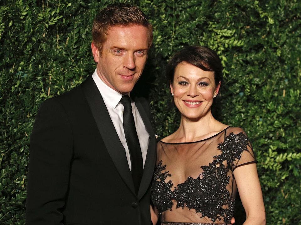 Damian Lewis and Helen McCrory at the Evening Standard Theatre AwardsAFP/Getty