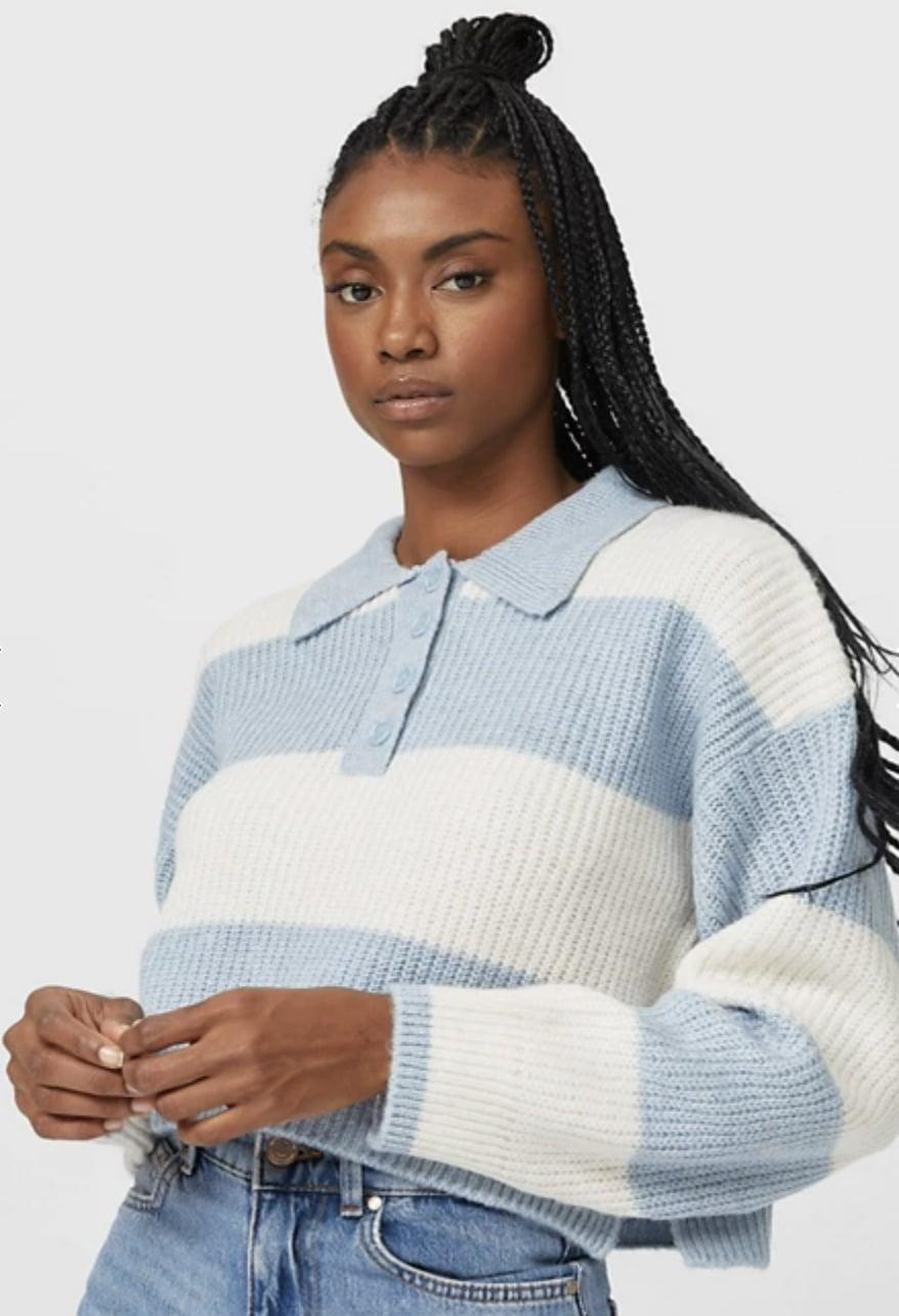 <p>Pair this <span>ASOS Stradivarius Ribbed Polo Sweater</span> ($46) with jeans and Converse sneakers.</p>
