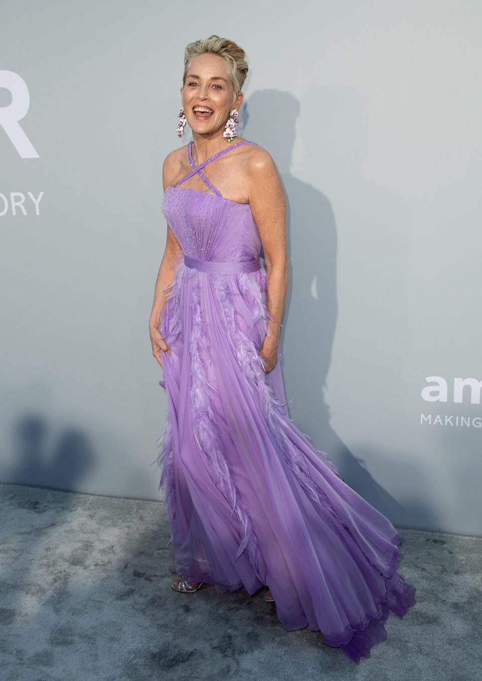 Sharon Stone at the Cannes Gala