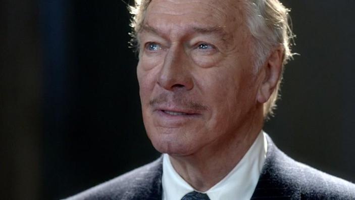 Christopher Plummer in character as actor John Barrymore