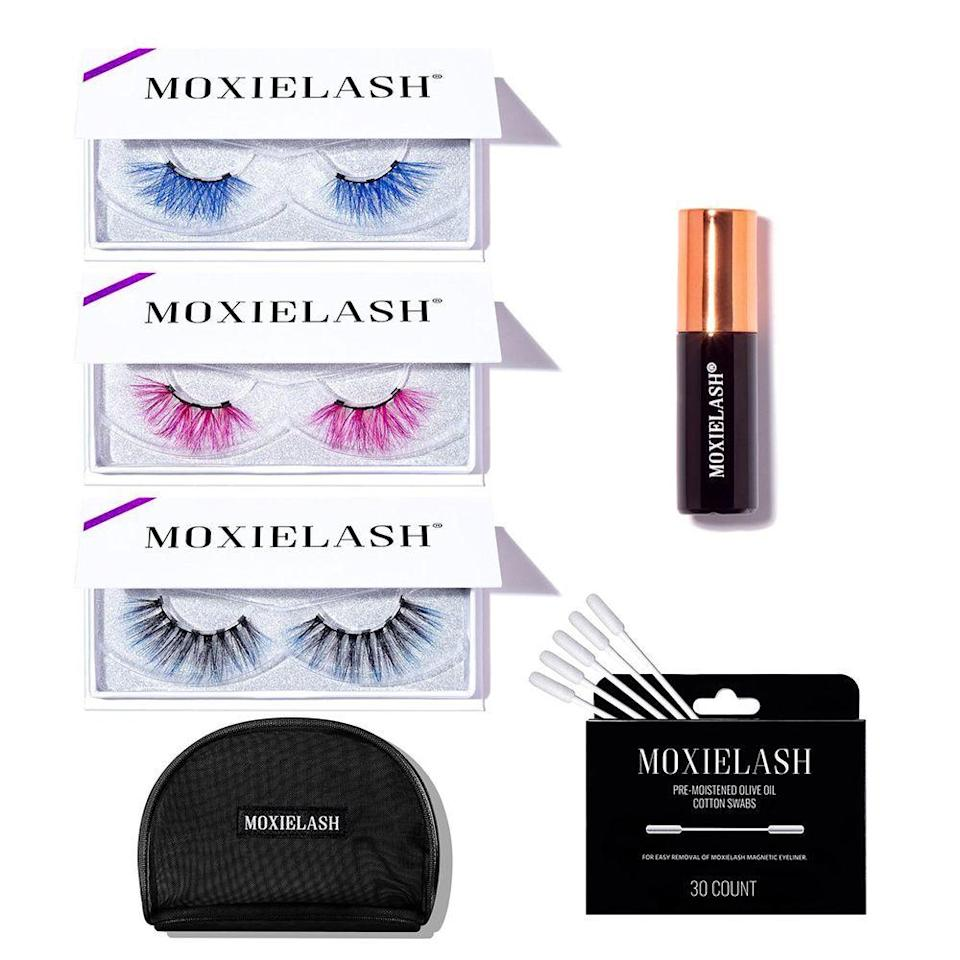 """<p>moxielash.com</p><p><strong>$108.00</strong></p><p><a href=""""https://www.moxielash.com/products/new-color-kit"""" rel=""""nofollow noopener"""" target=""""_blank"""" data-ylk=""""slk:Shop Now"""" class=""""link rapid-noclick-resp"""">Shop Now</a></p><p>Top any look of with these vivid <a href=""""https://www.elle.com/beauty/makeup-skin-care/g32365344/best-magnetic-eyelashes/"""" rel=""""nofollow noopener"""" target=""""_blank"""" data-ylk=""""slk:magnetic lashes"""" class=""""link rapid-noclick-resp"""">magnetic lashes</a></p>"""