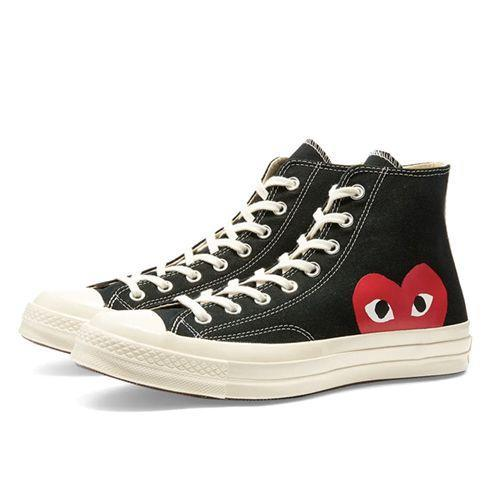 "<p><a class=""link rapid-noclick-resp"" href=""https://www.endclothing.com/gb/comme-des-garcons-play-x-converse-chuck-taylor-1970s-hi-p1-k112-1.html"" rel=""nofollow noopener"" target=""_blank"" data-ylk=""slk:SHOP"">SHOP</a></p><p>In the fabled world of hi-tops, there is but one C-word. Now there's two, as Converse hooks up with Comme des Garçons for a love-in that's a shoo-in for your next big fun winter sneak.</p><p>Chuck Taylor 1970s, £130, <a href=""https://www.endclothing.com/gb/comme-des-garcons-play-x-converse-chuck-taylor-1970s-hi-p1-k112-1.html"" rel=""nofollow noopener"" target=""_blank"" data-ylk=""slk:endclothing.com"" class=""link rapid-noclick-resp"">endclothing.com</a></p>"