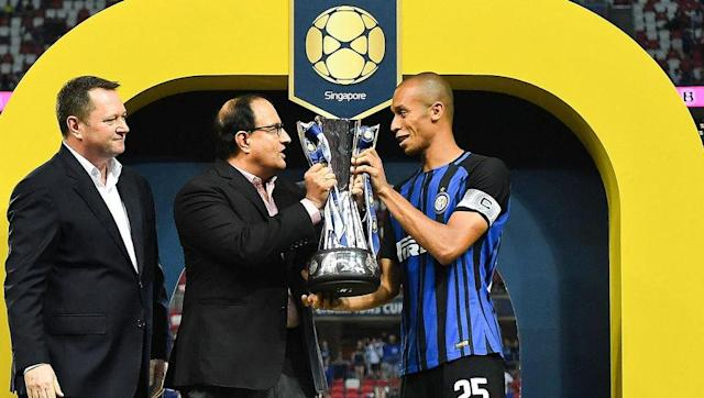 <p>The Brazilian defender, formerly of Atletico Madrid, has spent the last two seasons at Inter Milan. </p> <br><p>He won the La Liga title at Atletico and also the Europa League. Since his move to Italy, he has become an important player for the Nerazzurri as Inter aim to try to return to the glory days. </p>