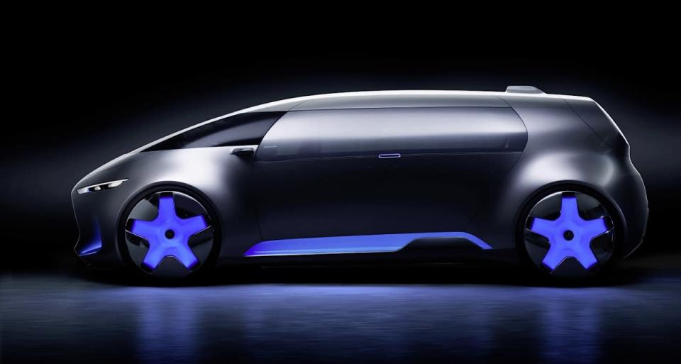 <p>While it looks like a windowless Blade Runner bread van, the designers actually put screen-printed, body-colored vinyl over the side windows and single gullwing side door, like that used in bus advertising, to create the privacy effect. <br></p>