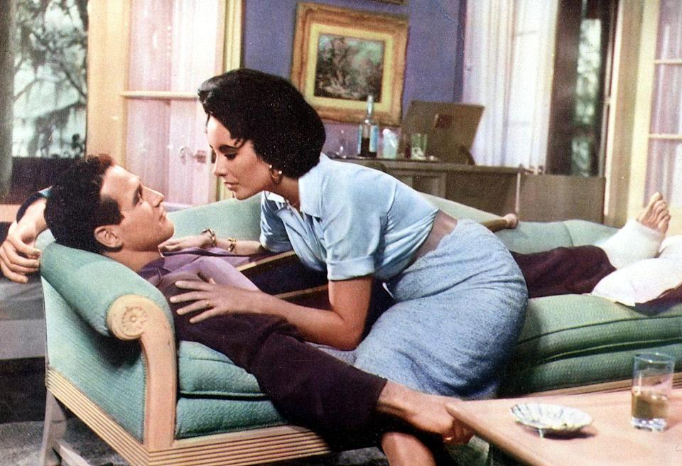 """<p>Based on the Tennessee Williams play, the movie stars Paul Newman and Elizabeth Taylor as Brick and """"Maggie the Cat,"""" a couple dealing with a messy family drama. Brick and Maggie visit to celebrate the birthday of Big Daddy, Brick's father. When she learns that Big Daddy is dying from cancer, she encourages Brick to reconcile with his father. After ups and downs in their relationship due to Brick's drinking, Maggie announces that she is pregnant. Although it's a lie, it's what eventually leads to Brick and Maggie reconciling.</p>"""