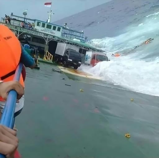 The KM Lestari was believed to be carrying about 190 people and dozens of vehicles when it ran aground Tuesday afternoon about 300 metres from the shore of Sulawesi island