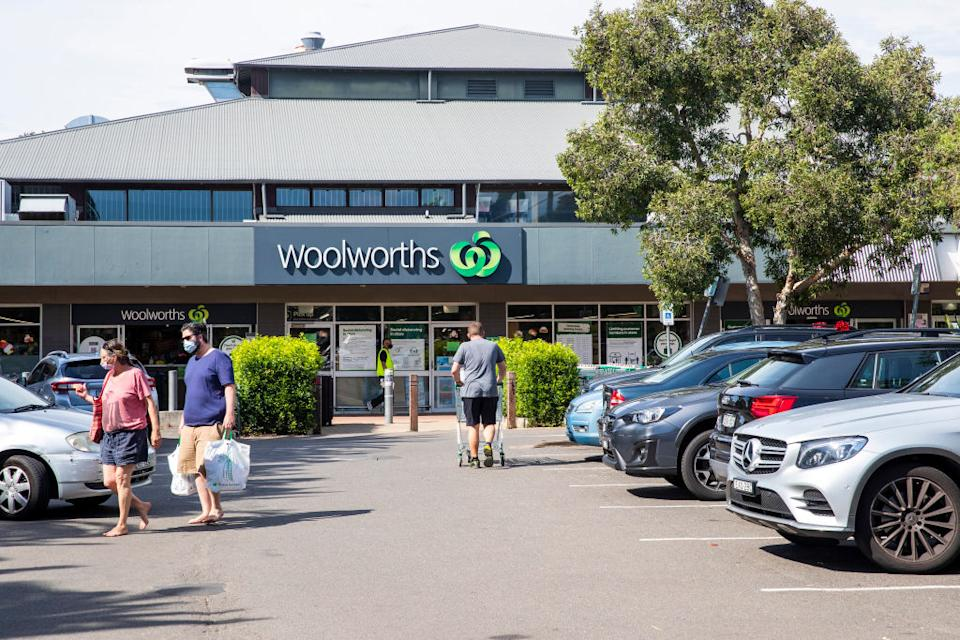 A general view is seen of Woolworths in Avalon in Sydney, Australia.
