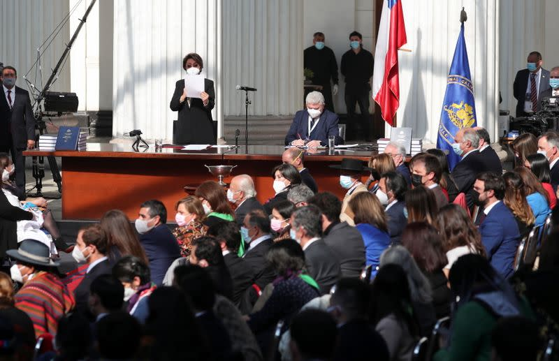 Chile's assembly holds first session to draft a new constitution