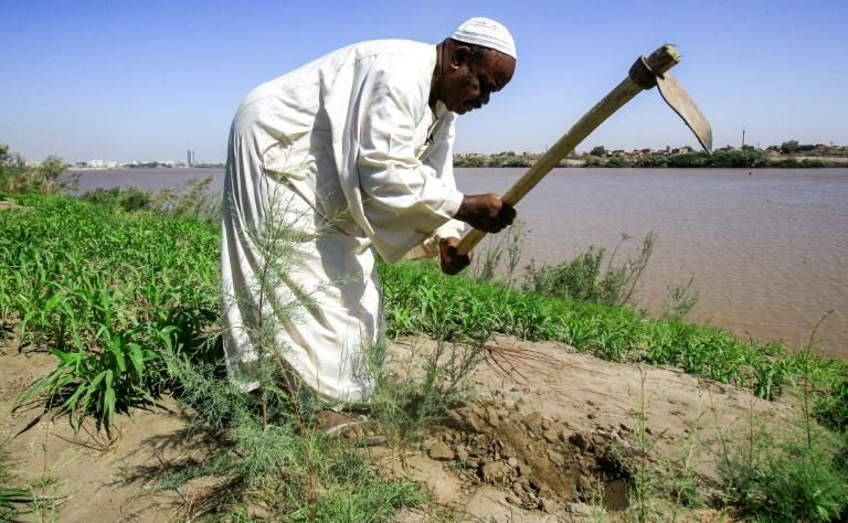 Sudanese farmers like Othman Idris say Ethiopia's construction of a controversial dam on the Blue Nile is a dream come true that would regulate flooding during rainy seasons (AFP Photo/ASHRAF SHAZLY)