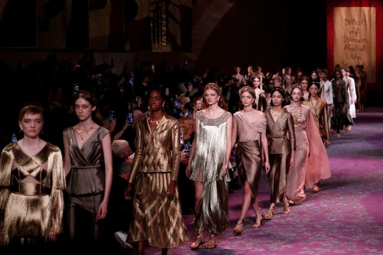 Temple to womanhood: Dior's haute couture fashion show took place inside artist Judy Chicago's shrine to female empowerment