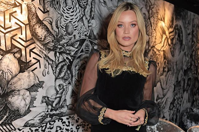 """Laura Whitmore attends a private screening of """"Fallen Dream"""" at The Mandrake Hotel on December 12, 2019 in London, England. (Photo by David M. Benett/Dave Benett/Getty Images)"""