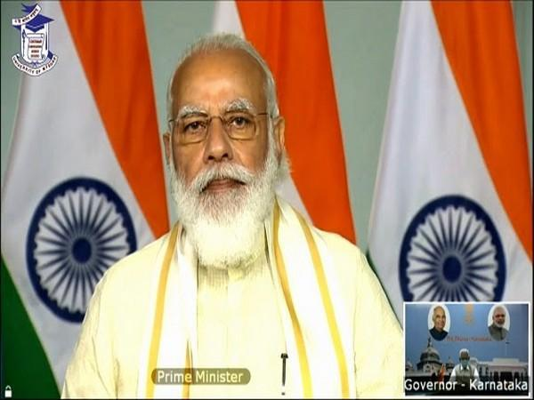 PM Shri Narendra Modi ji Presided over the 100th Convocation of the University of Mysore, addressing the faculty & students via live video link from New Delhi