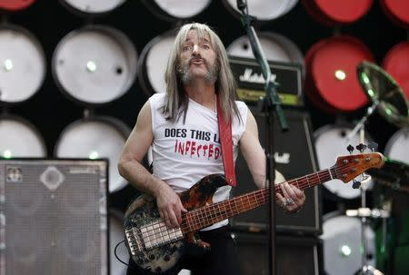 File photo of Spinal Tap performing during the Live Earth concert at Wembley Stadium in London