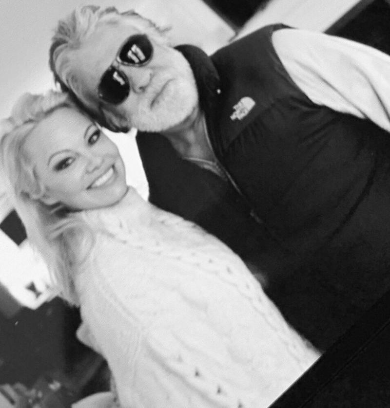 Pamela Anderson and Jon Peters | Pamela Anderson/Instagram